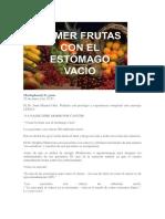Comer Fruta Estomag Vacio