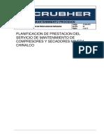 Planificacion de Prestación de Servicios Mantenimiento de Compresores