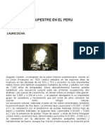 Arte Rupestre en El Peru