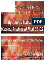 10 Interpretation of Taxing Statutes by Gaurav