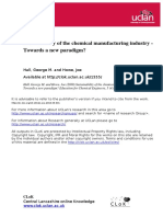 Sustainability of the Chemical Manufacturing Industry - Towards a New Paradigm