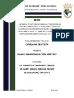 TESIS INCIDENCIA DE ENFERMEDAD GINGIVAL Y PERIODONTAL