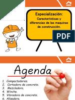 Especialización, Caracteristicas y Diferencias de Las Maquinas de Construcción.