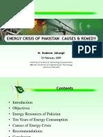 Energy Crisis of Pakistan Causes & Remedy