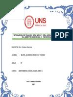 Situación Del Niño y Del Adolescente en El Ámbito Nacional y Regional Este PDF