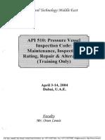 API 510- Course Notes