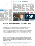 20180704 Australian Prolific Litigator in Plea
