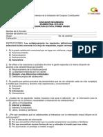 CLAVE EXAMEN DE ASIGNATURA ESTATAL.1° desarrollo de  ambientes