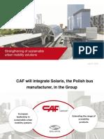 CAF Compra El Fabricante Polaco de Autobuses Solaris
