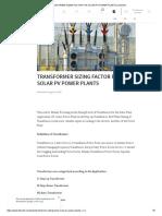 2111111(1) Transformer Sizing Factor for Solar Pv Power Plants _ Linkedin