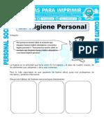 Ficha Higiene Personal Para Cuarto de Primaria