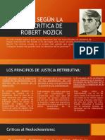 La Justicia Según La Teoría Crítica de Robert Nozick