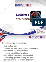 Lecture 01 The Human