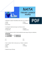 Nata Sample Papers -1(Theory)