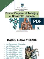 Organizacion y Funcionamiento Instituciones de Educacion Para El Trabajo y El Desarrollo Humano