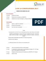 Programa de La Convocatoria 2017