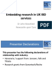 Embedding Research in UK IBD Services Short
