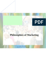 Philosophies of Marketing 31 July 2009