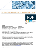 Water Resource Framework Study