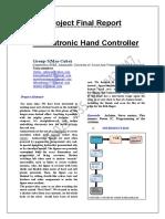 Animatronic Hand Controller