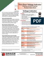 Thru-Door Voltage Indicator Flashing and Non-Flashing Grace VPI LED