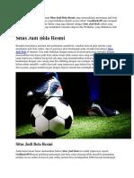 Situs Judi Bola Resmi