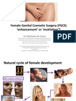 Female Genital Cosmetic Surgery (FGCS) 'enhancement' or 'mutilation'?