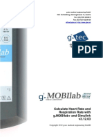 Calculate Heartrate Respiration Rate With g Mob i Lab