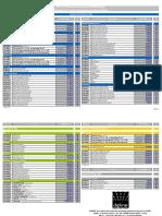 EXW Price List 2012