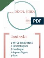 UML- Car Rental - UseCase, Class Diagram, Sequence Diagram, Scope