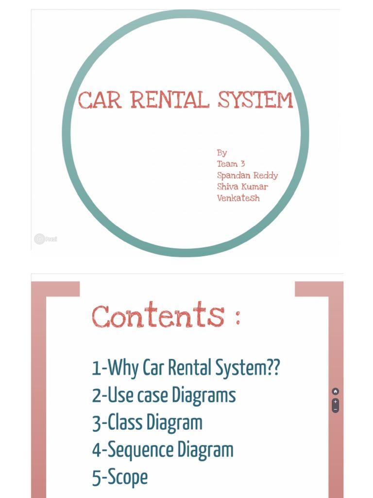 Uml car rental usecase class diagram sequence diagram scope ccuart Images