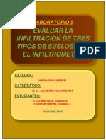 EVALUACION DE INFILTRACION DE TRES TIPOS DE SUELOS CON EL INFILTROMETRO Y GENERACION DE CURVAS DE INFILTRACION.docx