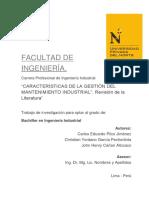 RS-Caracteristicas de La Gestión Del Mantenimiento Industrial