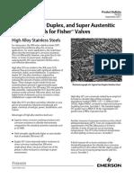 SDSS for Valves
