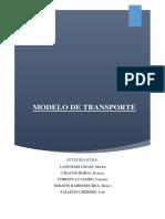 Modelos de Transporte - Final