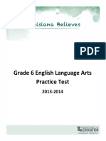 Practice Test Ela Grade 6