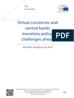 Virtual Currencies and Central Bans Monetary Policy - Challenges Ahead - European Parliament July 2018
