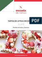 Tartas Letras Decoradas 2018