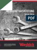 Werkstattausrüstungs Katalog Entwurf 1