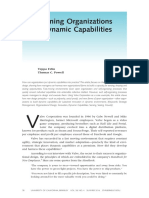 Designing Organizations for Dynamic Capabilities - Valve Corporation as Case Study
