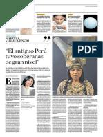 El Antiguo Perú Tuvo Soberanas de Gran Nivel