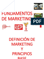 1. Definición de Marketing, Principios Base. Ventaja Diferencial (1)