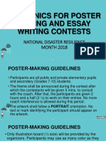 Mechanics for Poster Making and Essay Writing Contests