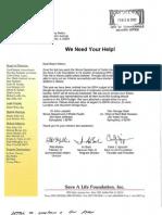 Edwardsville Mayor Gary Niebur & the Save-A-Life Foundation (2001-06 letters)