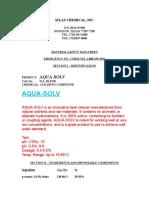 Aqua Solv Msds