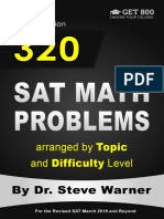 320 SAT Math Problems by dr. warner