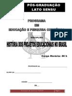1-APOSTILA - Módulo – História Dos Projetos Educacionais No Brasil – 40h