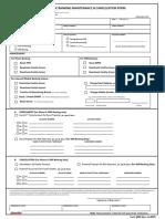 EB Maintenance Form