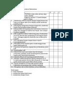 Check List Tindakan Intubasi Endotrakea