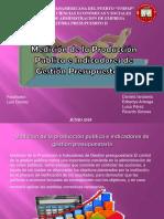 Medición de la Producción Pública e Indicadores Gestión Presupuestaria